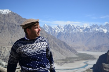 Me in Khaplu with the Karakorum range in the background.