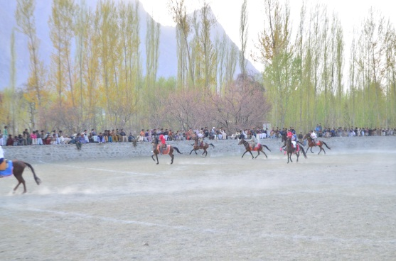 Taking in a polo game near skardu.
