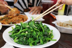 So simple and delicious. Bok Choy steamed with Garlic