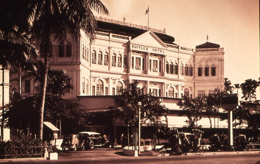Facade of Raffles Hotel from 1921. courtesy of Raffles