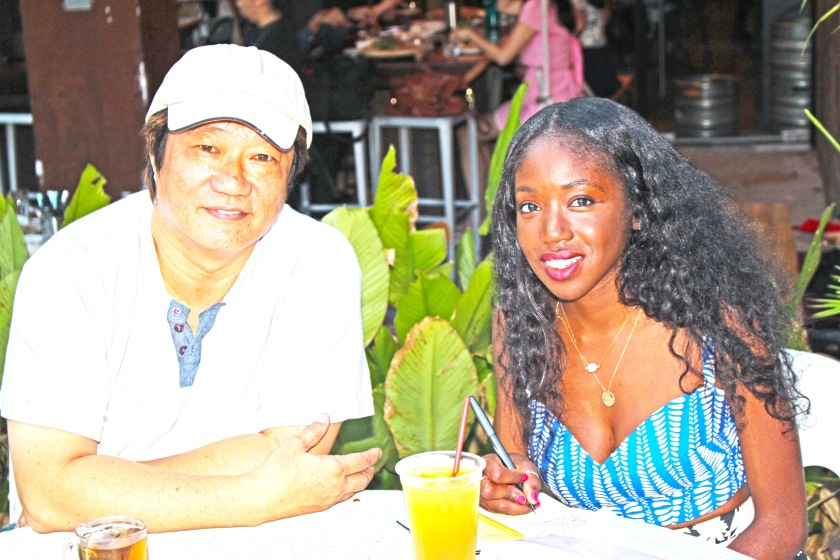 with KF Seetoh at Gluttons Bay in Singapore.