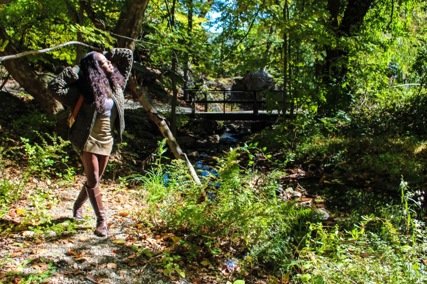 Nneya Richards in woods at Bear Mountain