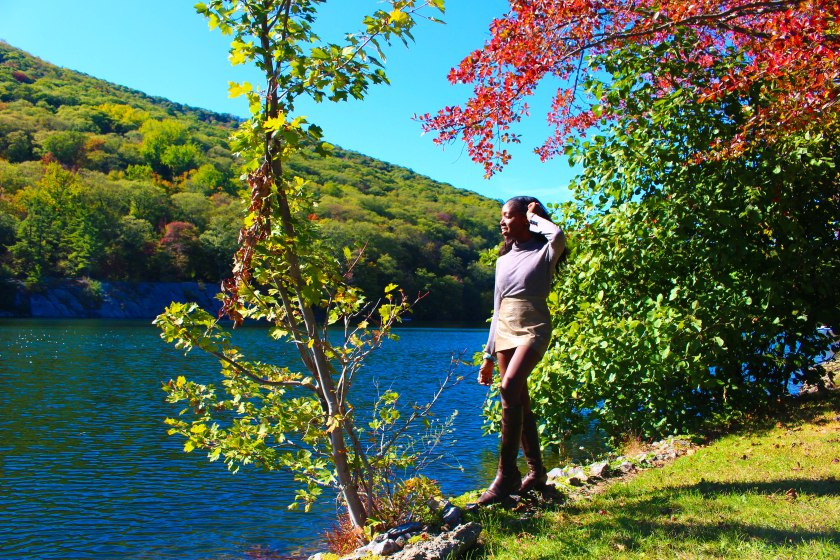Nneya Richards gazing at Lake