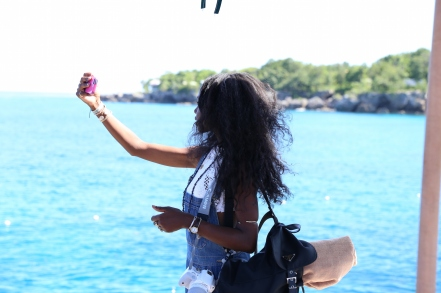 Blogger Joe Miragliotta got this shot of me searching for the pefect view for a selfie.