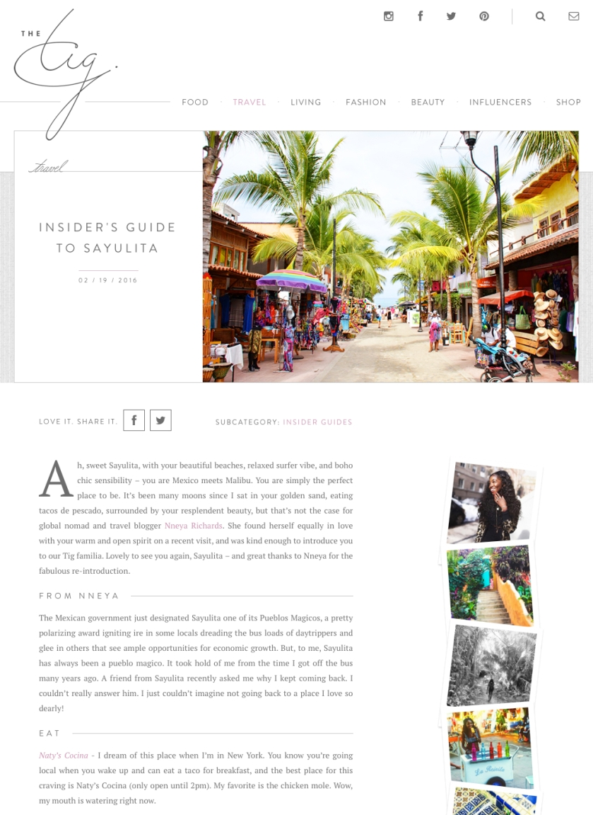 Insider's Guide to Sayulita for The Tig! | 'N A Perfect ...