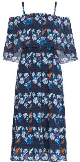 TANYA TAYLOR AMARA FLORAL PRINT DRESS