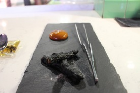Charred capsicum pepper embers