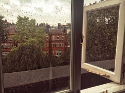 It did finally rain when I was in London. I was staying at the Draycott hotel. It was so moody and fitting.