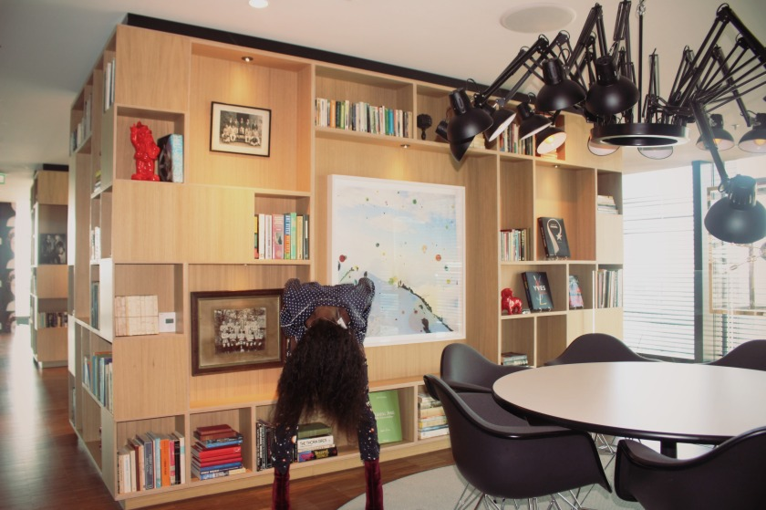 dancing it out in a meeting room at citizenM nneya richards