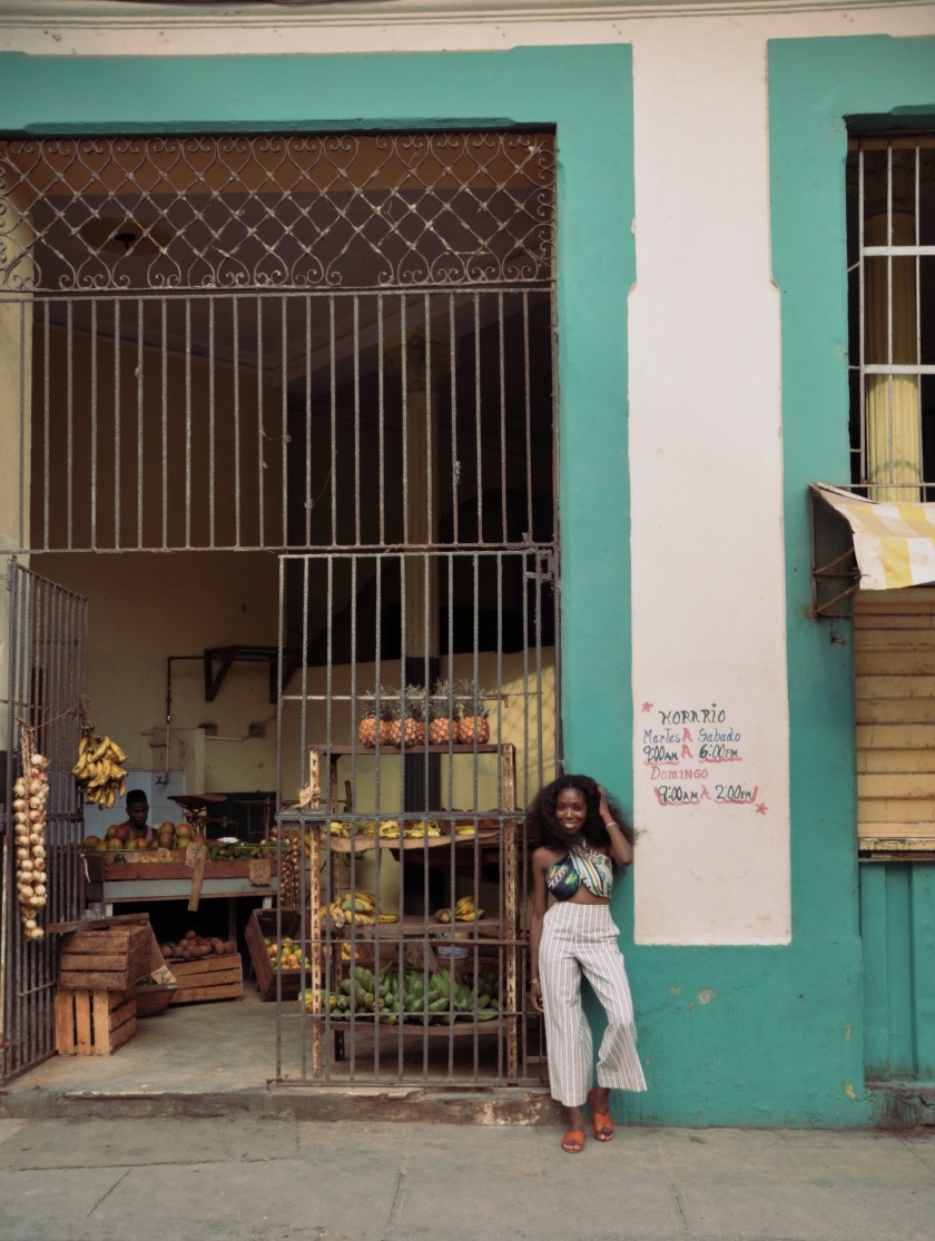 Nneya at Fruit Market in Centro Havana by Alistair Morgan