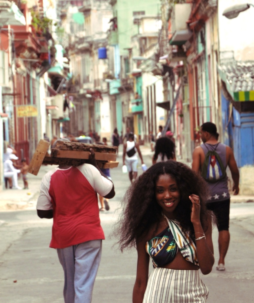 Smiling Nneya Richards Centro Habana by Alistair Morgan CLose up