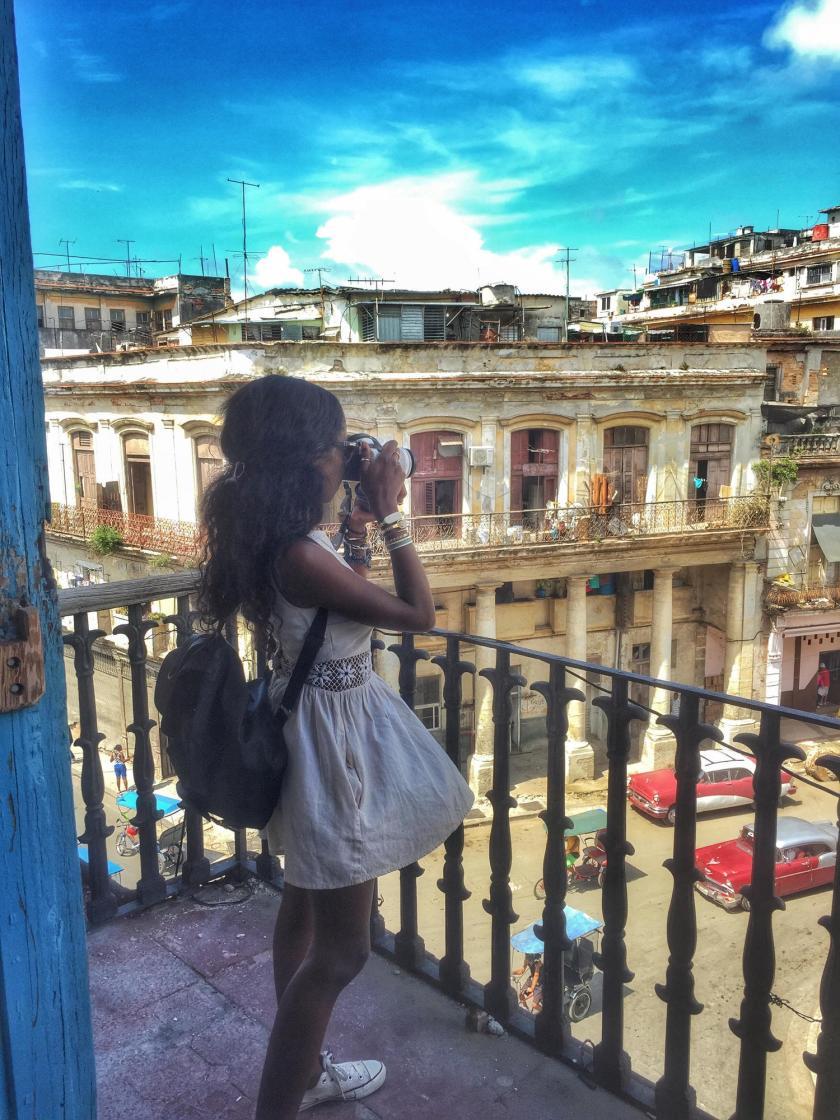 Nneya Richards in Havana, Cuba