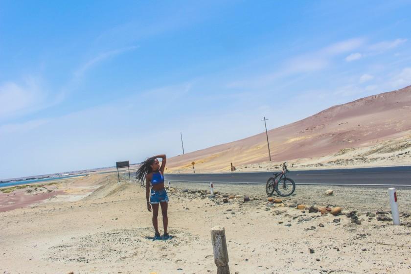 Nneya Richards in Paracas Peru