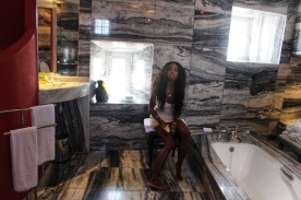In Bathroom by Nneya Richards