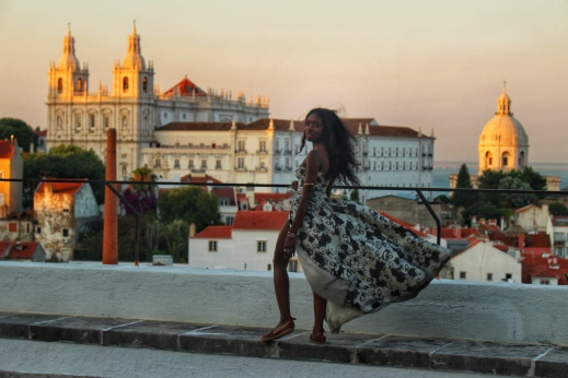 Sunset on Terrace Lisbon by Nneya Richards